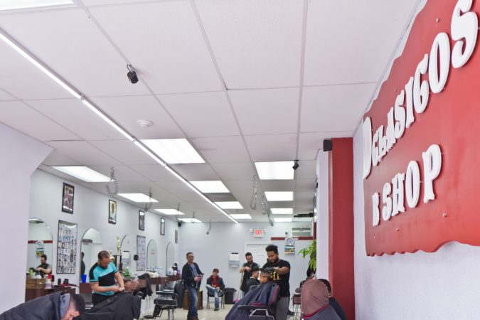 D'Classico Barbershop in Olney. (Kimberly Paynter/WHYY)