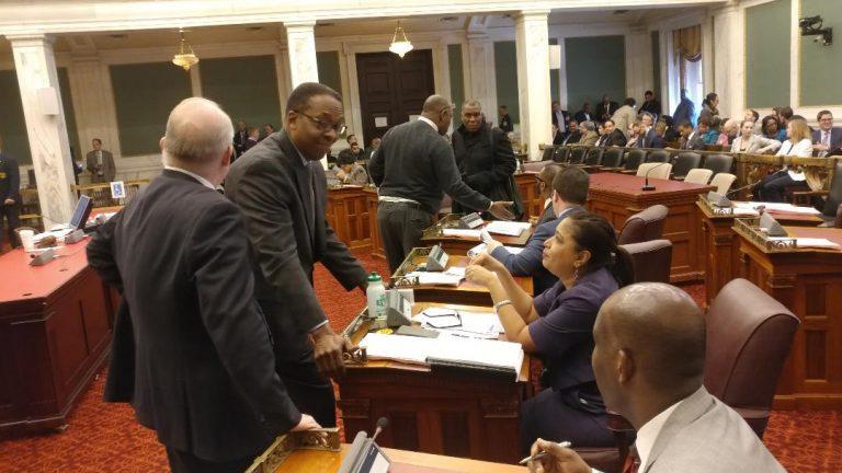 Philadelphia City Council members discuss budget. (Tom MacDonald/WHYY)