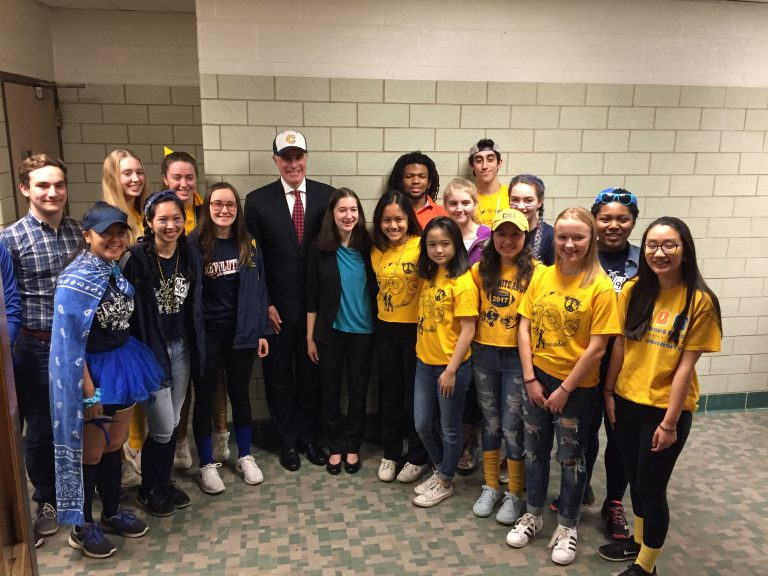 U.S. Senator Bob Casey visited students at Cheltenham High School, March 2, 2018.