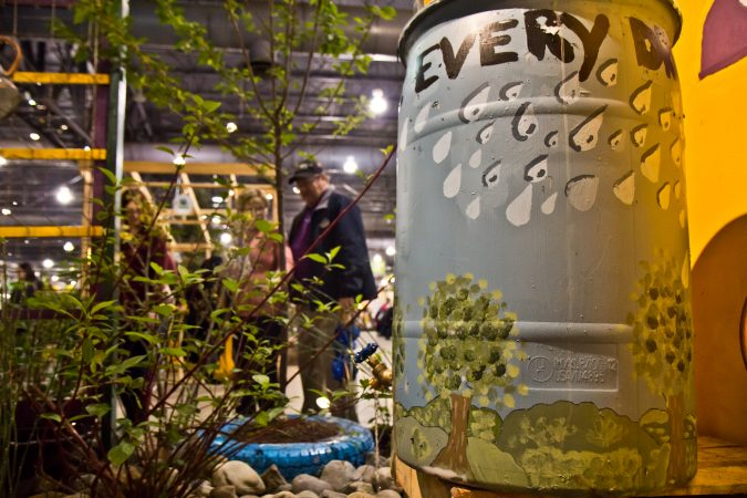 W. B. Saul H.S. created a rain garden as their 2018 Philadelphia Flower Show exhibit. (Kimberly Paynter/WHYY)