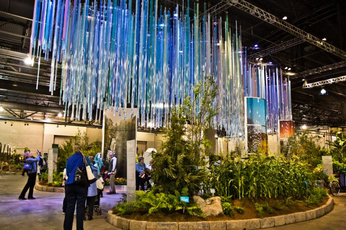 The Philadelphia Horticultural Society's Windows on the Watershed at the 2018 Flower Show. (Kimberly Paynter/WHYY)