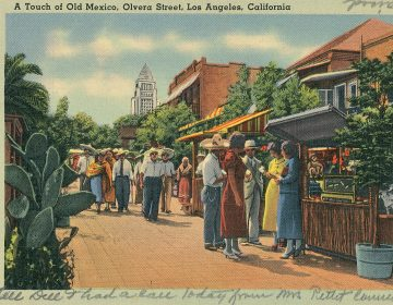 Olvera Street, a historic Mexican marketplace in downtown Los Angeles. 1935. (Smith Collection/Gado/Getty Images)