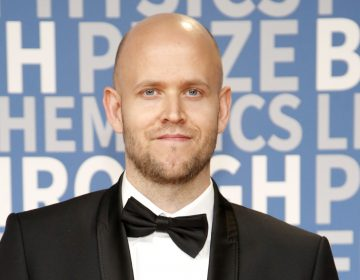 Daniel Ek, co-founder and CEO of Spotify. The company recently filed papers to begin trading on the public market. (Kimberly White/Getty Images)