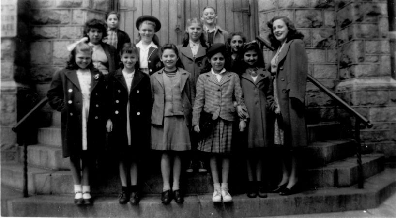 Hebrew Sunday School Society in Strawberry Mansion, 1940.