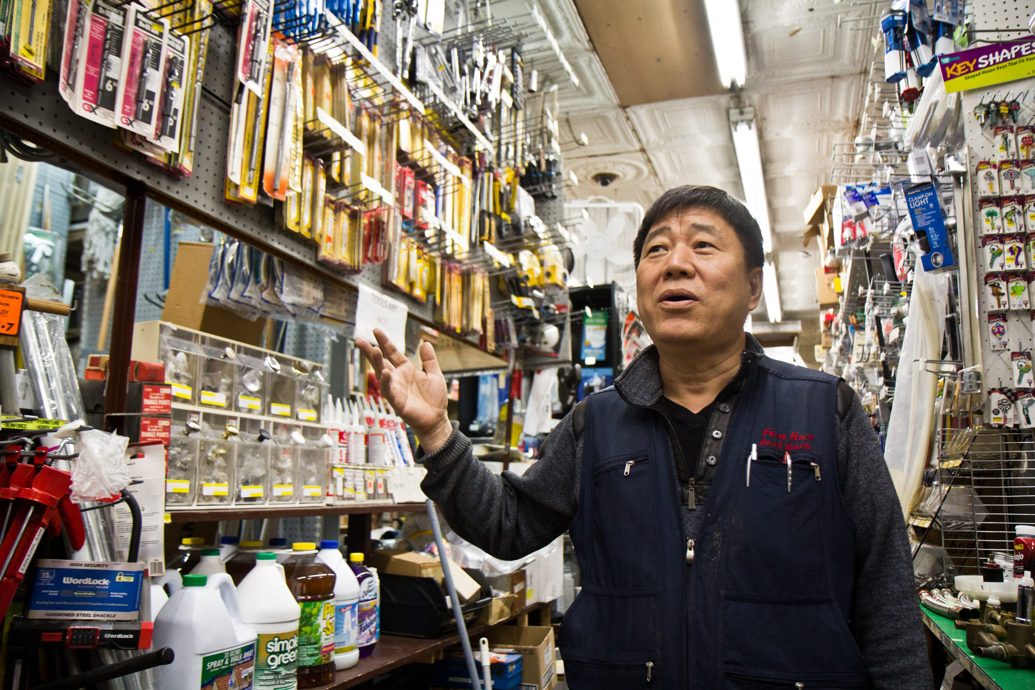 Justin Lee is the owner of Fern Rock Hardware in Olney.