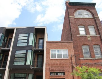 New houses abut old in Northern Liberties, one of the city's fastest gentrifying areas. (Emma Lee/WHYY)