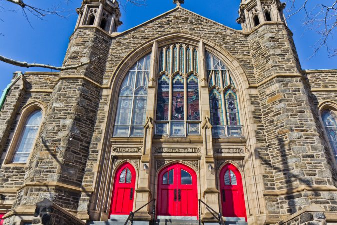 Olney's Shekina church serves the nation's Haitian-born population. (Kimberly Paynter/WHYY)