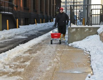 Rock salt used in Philadelphia. (Kimberly Paynter/WHYY)