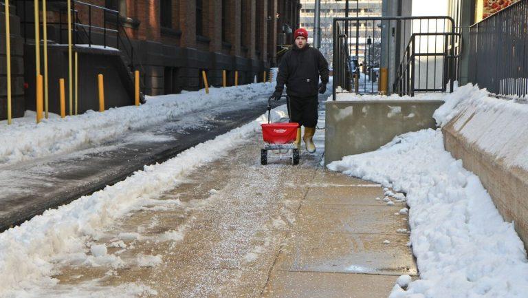 Rock salt used in Philadelphia. (Kimberly Paynter/WHYY)