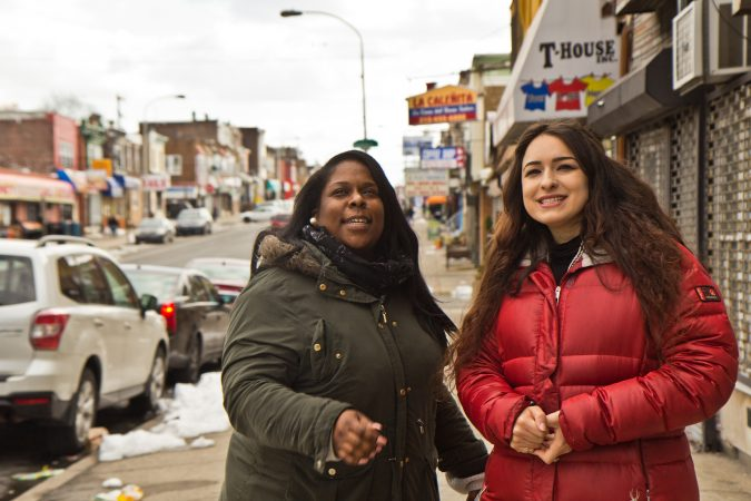 Stephanie Michel (left) is the director of the North 5th Street Revitalization Project. Gabriella Nolan is the project's corridor manager. (Kimbe