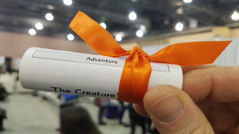 The Short Story Dispenser instantly prints stories on paper scrolls. (Peter Crimmins/WHYY)