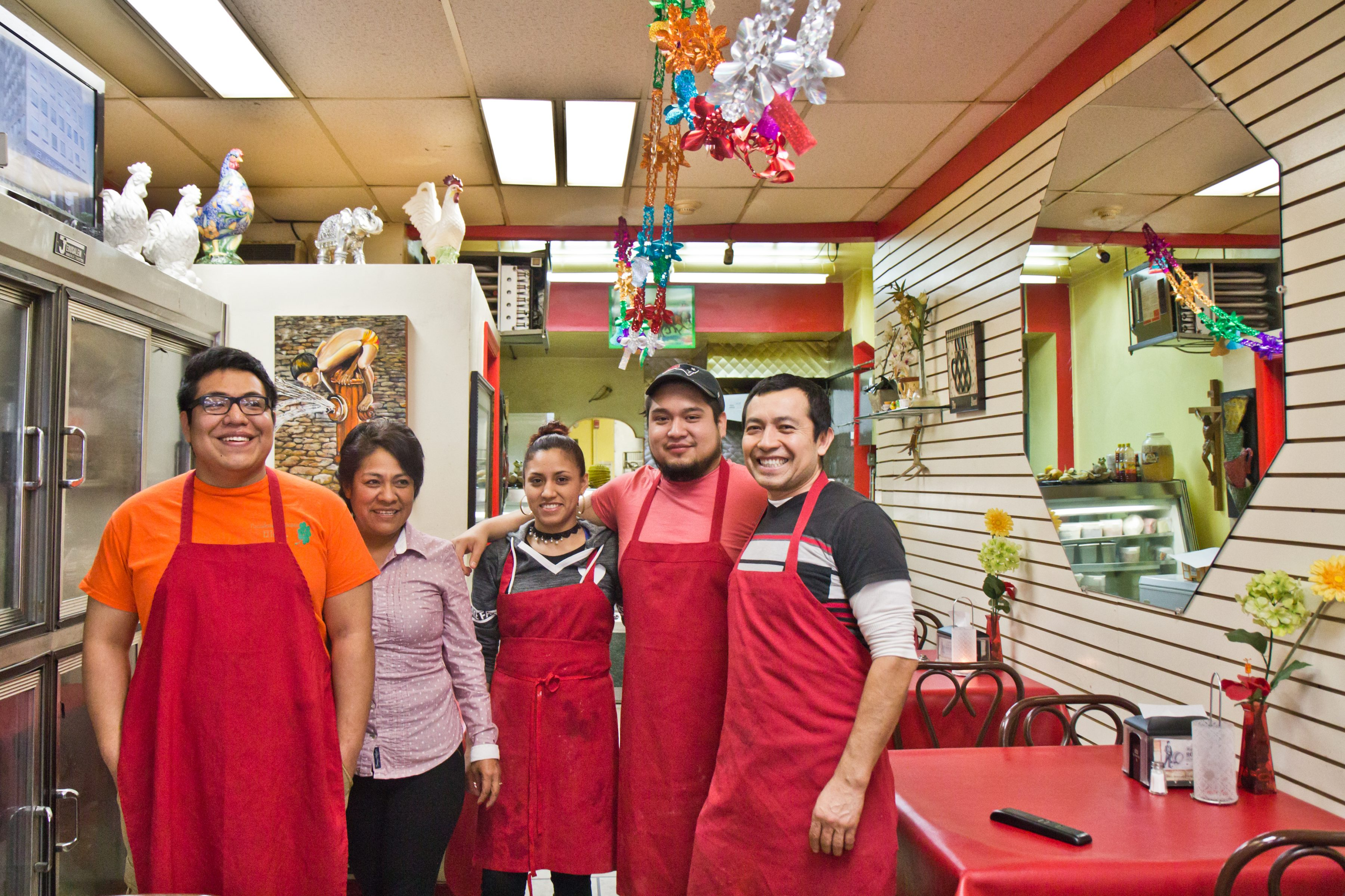 The Macias family, owners of Panaderia Mexicana El Trebol, have lived in Olney for 20 years.