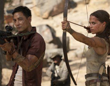 Daniel Wu, left, and Alicia Vikander in a scene from