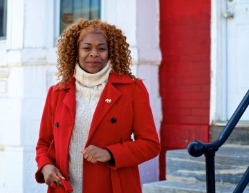 Tonetta Graham on her Strawberry Mansion porch (Bastiaan Slabbers for WHYY)