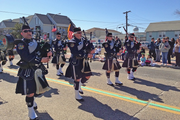 A scene for a past Ocean County St. Patrick's Day Parade in Seaside Heights. The 2018 parade is set for March 10. (Photo: Sandy Levine/for WHYY)