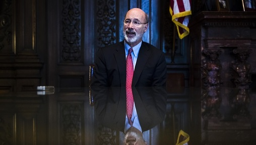 Wolf isn't saying whether he plans to sign or veto a high-profile opioid prescription bill on Friday. (Matt Rourke/AP Photo)