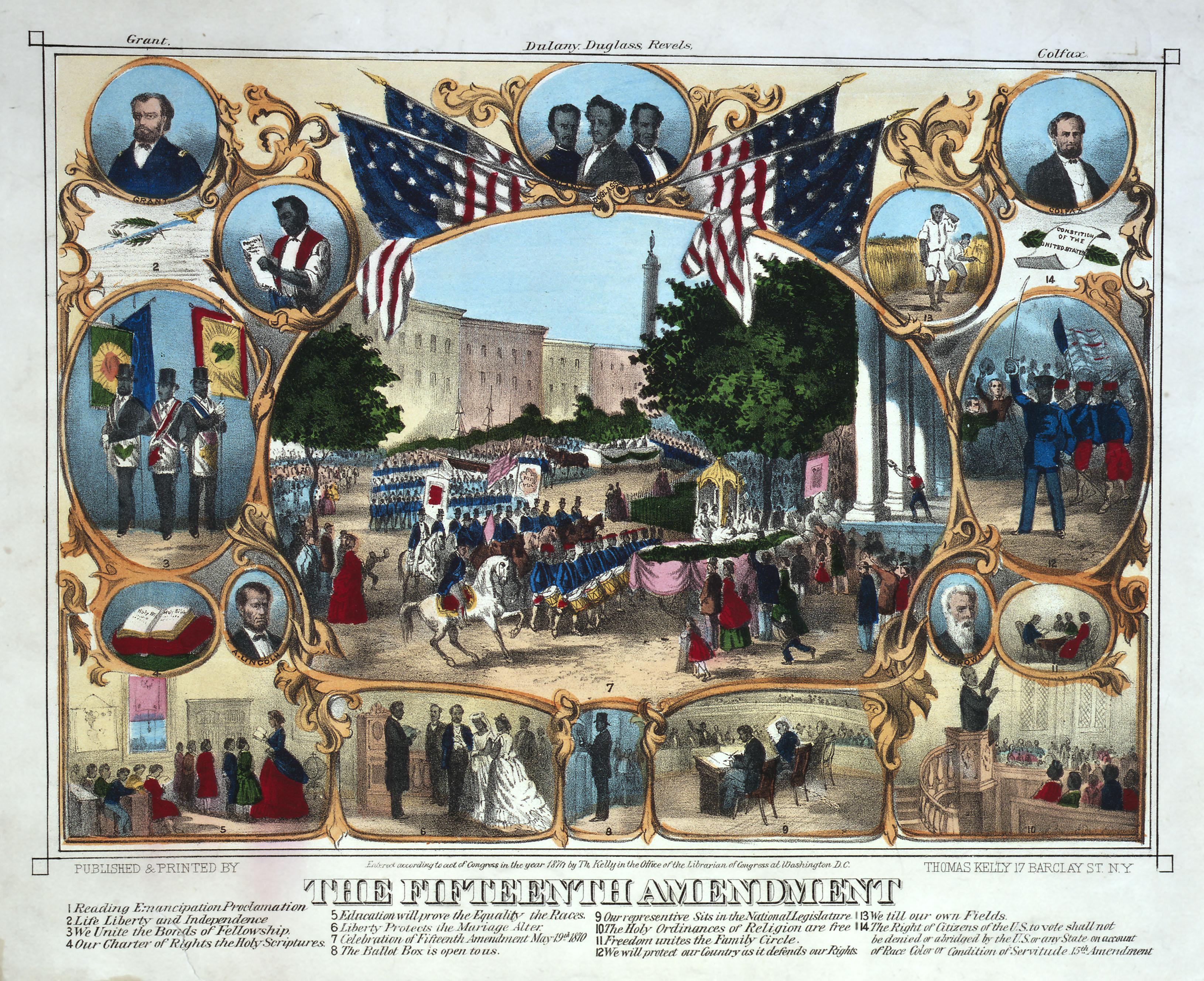 The Fifteenth Amendment print