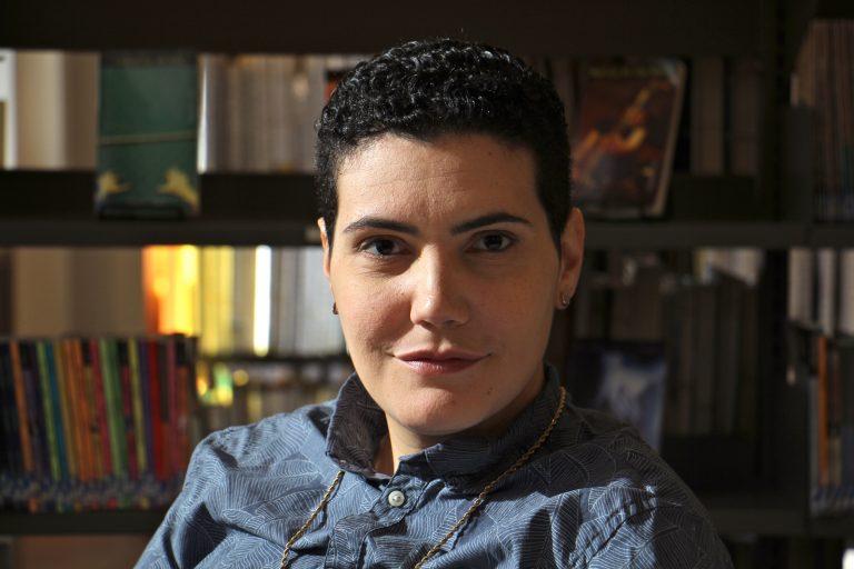 Philadelphia's new poet laureate Raquel Salas Rivera. (Emma Lee/WHYY)