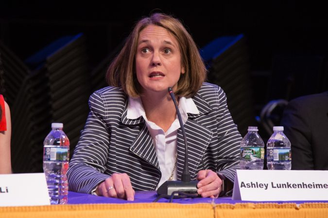 Ashley Lunkenheimer is a former federal prosecutor and first-time candidate. (Emily Cohen for WHYY)