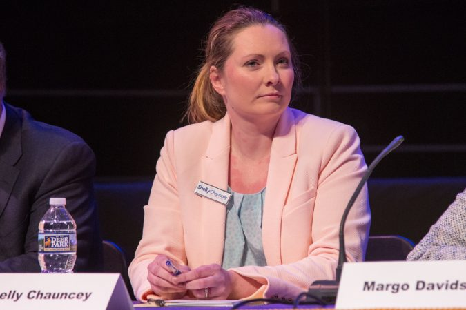 Shelly Chauncey is a former Central Intelligence Agency counter-intelligence officer and first-time candidate for elected office . (Emily Cohen for WHYY)