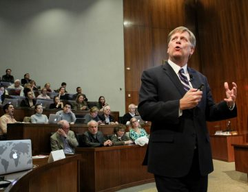 Former U.S. Ambassador to Russia Michael McFaul shares his insights on recent developments in the U.S.-Russia relationship during a talk at Arthur Lewis Auditorium, Robertson Hall on the Princeton University campus.