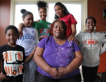 Octavia Durham is surrounded by five of the seven grandchildren that live with her and attend the Pottsgrove public schools., (from left) Mason Dargan, 5, Tarienah Chandler Smith, 9, Miyana Francis, 14, K'Lliyah Smith, 15, and Mikhi Dargan, 9.