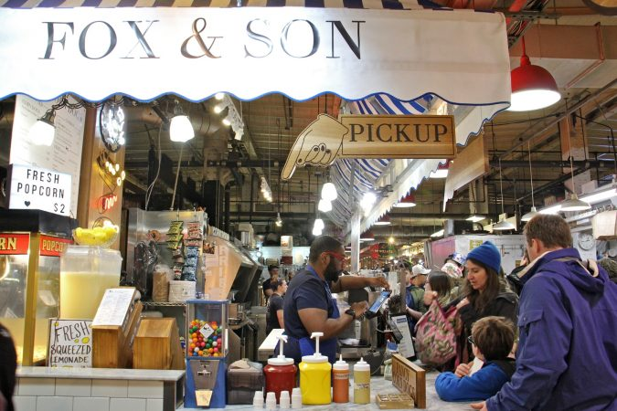 Customers line up at Fox and Son at Reading Terminal Market. (Emma Lee/WHYY)