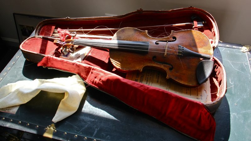 Among the artifacts preserved at the Nick Virgilio Writers House is the violin that belonged to the poet's father, which inspired the haiku: