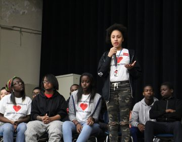 Students at Parkway Center City Middle College talk about their experiences with gun violence during a student-led forum with City Council President Darrell Clarke and Councilwoman Cindy Bass.