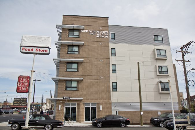 The Ruth Williams House at Broad and Boston Streets in Philadelphia has 88 units for those in need of affordable housing. (Kimberly Paynter/WHYY)