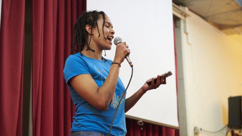Serafina Harris performs at