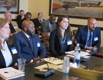 At a hearing Thursday, inmate advocates urge New Jersey lawmakers to open the state's financial aid program to prisoners. (Phil Gregory/WHYY)
