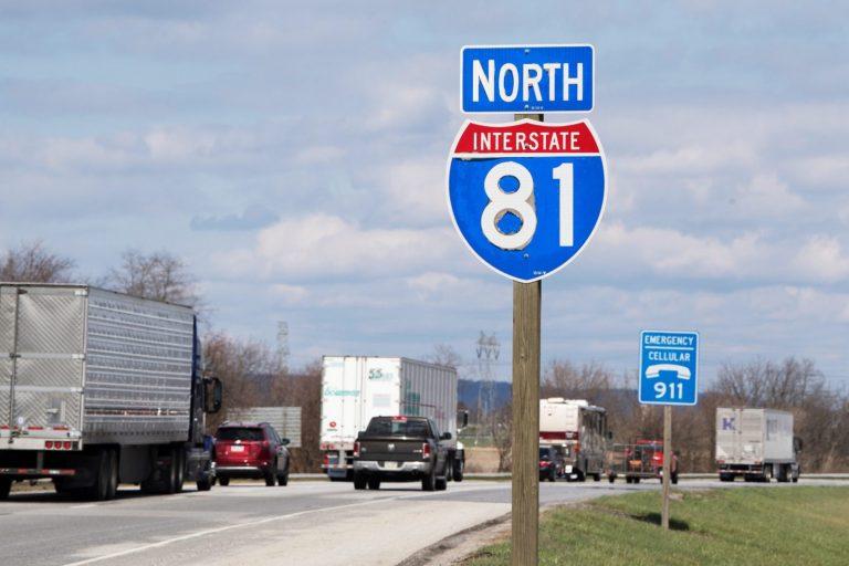 Route I-81 near Mechanicsburg, Pennsylvania (Jose F. Moreno/Philadelphia Inquirer)