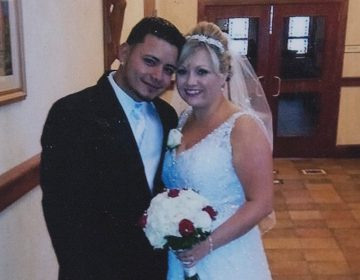 Anne Franco and her husband, Ludvin Franco, on their wedding day (Provided)