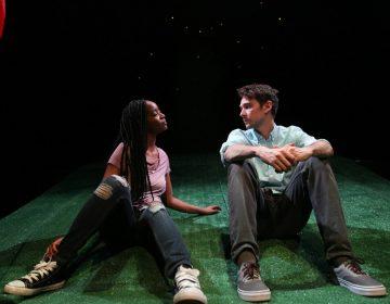 Kishia Nixon and Trevor William Fayle in Theatre Exile's world-premiere production of