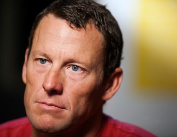 In this Feb. 15, 2011 file photo, Lance Armstrong pauses during an interview in Austin, Texas.Armstrong, on Thursday, April 19, 2018, has reached a $5 million settlement with the federal government in a whistleblower lawsuit that could have sought $100 million in damages from the cyclist who was stripped of his record seven Tour de France victories after admitting he used performance-enhancing drugs throughout much of his career.  (Thao Nguyen/AP Photo, file)