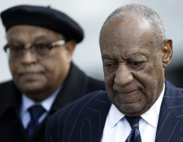 Bill Cosby leaves the Montgomery County Courthouse in Norristown after the third day of his  sexual assault trial Wednesday. (AP Photo/Matt Slocum)