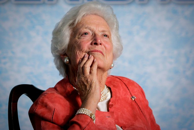 Pictured in 2005, former first lady Barbara Bush died Tuesday. Following a recent series of hospitalizations and after consulting with her family and doctors, the 92-year-old former first lady had decided not to seek additional medical treatment. (AP Photo/J. Scott Applewhite, file)