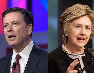 Former FBI Director James Comey and former Secretary of State Hillary Clinton (Susan Walsh and Patrick Semansky AP Photos)