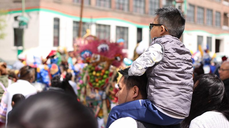 The annual Carnaval de Puebla brings as many as 15,000 people to South Philadelphia. (Angela Gervasi for WHYY)
