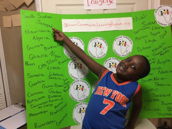 Aminata Sy's son, Ibra, is part of the African Learning Center Program.  (Photo courtesy of Aminata Sy)
