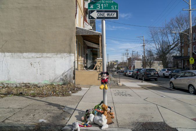 Strawberry Mansion was especially hard hit by violence during the crack epidemic. Shootings are still common. (Jessica Kourkounis/WHYY)