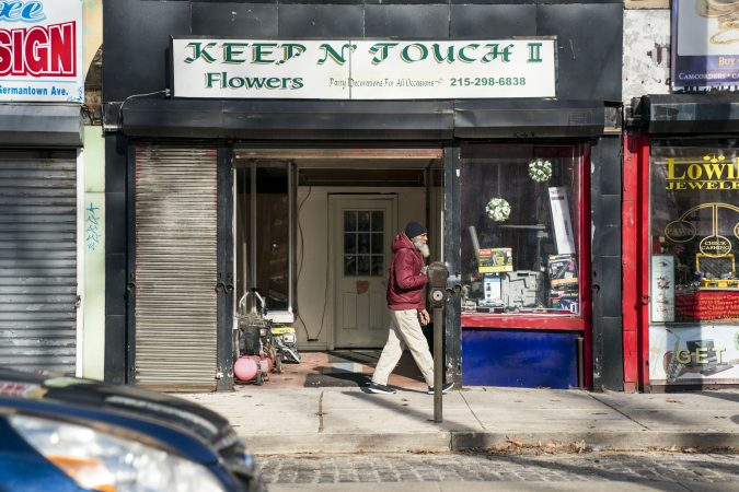 A storefront along Germantown Avenue near Wister Elementary. (Jessica Kourkounis/WHYY)