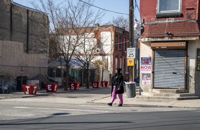 A slice of life in Strawberry Mansion. (Jessica Kourkounis/WHYY)