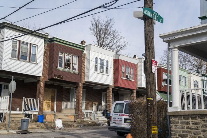 The street near the school where a six-year-old boy was struck by bullets ten times in August 2016. (Jessica Kourkounis/WHYY)