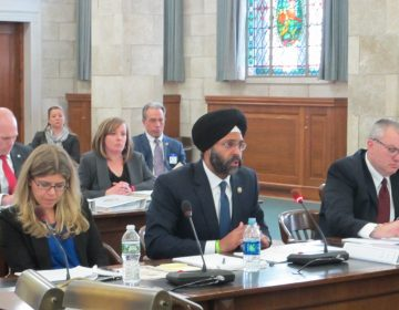 New Jersey Attorney General Gurbir Grewal testifies at Senate Budget Committee hearing. (Phil Gregory/WHYY)