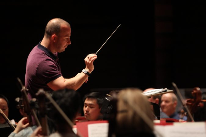Yannick Nézet-Séguin conducts the Philadelphia Orchestra during a rehearsal for