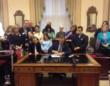 When Gov. John Carney recently signed the alternate diploma bill into law, parents, educators, advocates and students were delighted. (Zoë Read/WHYY)