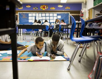 Students at Mastery Charter School at John Wister Elementary. (Jessica Kourkounis/WHYY)