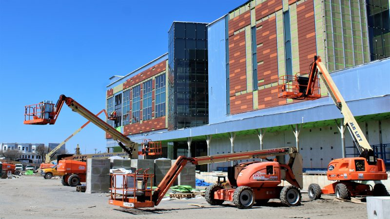 The exterior of the new academic building is coming together as Stockton University's Atlantic City project.
